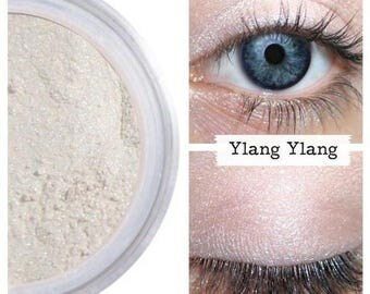 Eyeshadow, Ylang Ylang, Pink Pearl Eye Shadow, White, Mineral Eyeshadow, Mineral Makeup, Vegan, Cruelty Free, Eye Makeup