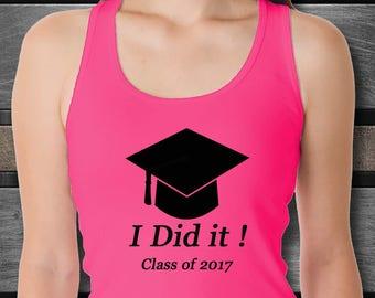 2017 Graduation Tank Top, Graduation Shirt, Graduation Gift