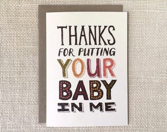 Funny First Father's Day Card - For Husband - Your Baby