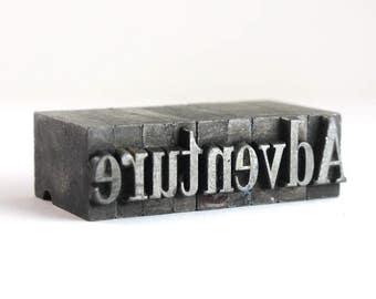 ADVENTURE - 36pt Vintage Metal Letterpress