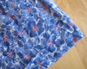 Blue Vintage Flowers -  Sewing Fabric