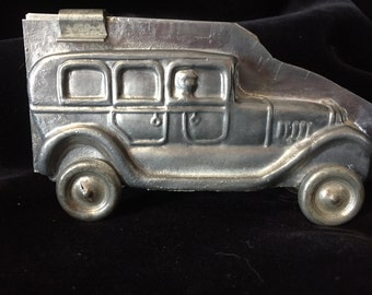 Vintage Tin Car Shaped Chocolate Mold