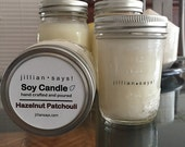 Hand poured soy candles with all-cotton wicks