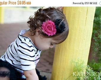 30% OFF SPRING SALE Set of 5  Flower Hair Clips, U Choose Color, Newborn Headband, Infant Headband, Baby Headband, Flower Girl, Baby Shower