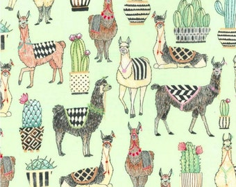Michael Miller - Lovely Llamas Collection - Lovely Llamas in Mint