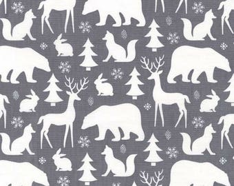 Michael Miller - Woodland Winter Collection - Winter Friends in Winter