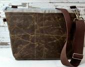 Made in the USA, Waterproof Camera bag, Darby Mack waxed canvas Insert or DSLR travel bag, messenger strap, Black and Grey
