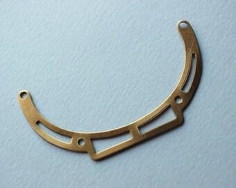 Oxidized Brass Pendant Collar Blank