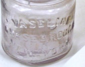 Old Vaseline Jar Vintage 20s Light Amethyst Bubbles Screw Cap Finish