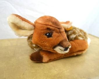 Vintage Steiff Fawn Lying Deer Bambi - Tag in Ear
