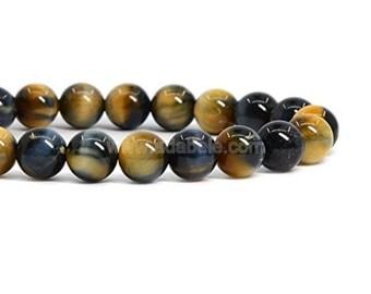 "You Pick Natural Golden Blue Tiger Eye Gemstone Beads 4mm 6mm 8mm 10mm Loose Round Beads 15.5"" (1 strand) #23GSR"