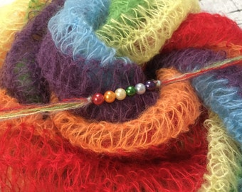 Rainbow Baby Photo Prop You choose either Wrap, Headband, or complete set. Ready to ship.