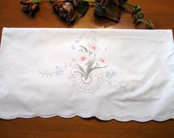Embroidery Pillowcase, Vintage Pillowcase, French Decor, Shabby Cottage,  Bedroom Linen by NormasTreasures on etsy