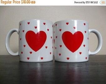 Holiday Sale. Vintage 1984 Lillian Vernon Heart / Love Mug.