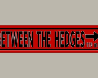 Custom UGA Georgia Bulldog Between the Hedges Football Road Sign