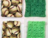 Reserved for Savannah Lopez Small Marble Maze: Baseball and Blue Minky