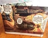 Star Wars Annakin Skywalker Obi-Wan Kenobi comic book vinyl wallet.  Handmade from comic books. Disney. The Force.