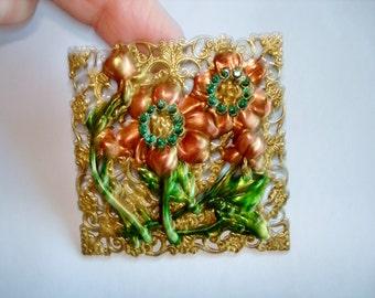 Flower Rhinestone Brooch KL Design