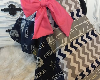 Car seat cover Dallas Cowboys for her / Car seat cover / car seat canopy / carseat cover / carseat canopy / nursing cover
