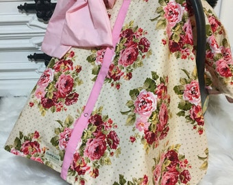 CAR SEAT COVER / carseat canopy / nursing cover / girl / carseat cover / car seat canopy / infant car seat cover / floral / flower