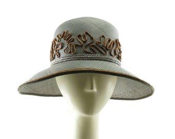 Downton Abbey Straw Hat, Woodland Hat, Vintage Hat Style, Cloche Hat, Wide Brim Hat, Vintage Style, Wedding Hats, 1920s Fashion Hats,