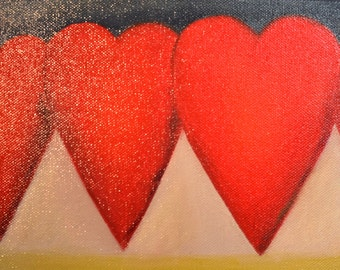 Growing Love, Hearts, original oil painting by Pami Ciliax-Guthrie
