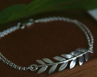 Branch Bracelet, Olive Leaf Bracelet, Grecian jewellery, Roman jewellery, Sterling Silver, Handmade Jewellery, Wedding Jewelry