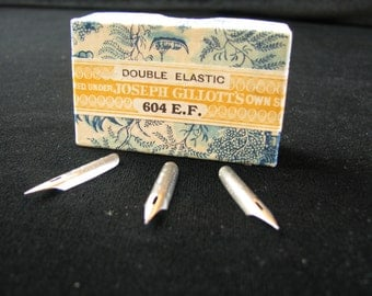 Joseph Gillott's Double Elastic 604 EF, gillott 604 ef, Dream Points, Antique Nibs, Dip Pen Nibs, Collectible Nibs, Calligraphy, Penmanship
