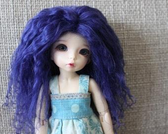 Deep Indigo mohair wig for Littlefee / other YoSD sized / Unoa / Enyo doll
