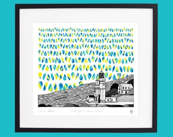 Isle of Wight - St Catherine's Lighthouse Limited Edition Screen Print