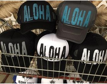Grunge ALOHA Trucker Snapback Hat