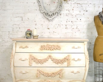 Bombay Dresser Painted Cottage Chic Shabby Romantic French Bombay Dresser