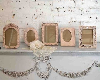 Painted Cottage Chic Shabby Romantic Metal Picture Frame Collection