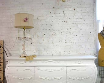 Painted Cottage Chic Shabby French Dresser/ Chest DR894