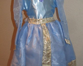 New Merida Brave Inspired Costume Birthday girl toddler princess dress  size   6  ready to ship today