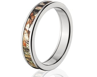 camouflage wedding band custom camo wedding ring mossy oak duckblind camo pattern camo jewelry mossy oak - Mossy Oak Wedding Rings