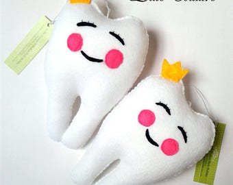 Tooth Fairy pillow, Fairy Tooth pillow, Tooth Fairy, Felt Tooth Pillow, girl tooth pillow, girl tooth fairy, boy tooth pillow, tooth pillow
