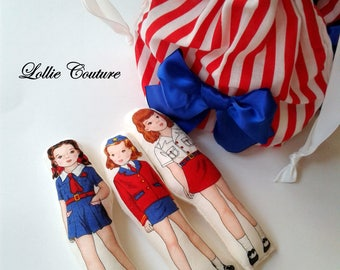 Doll, toys, soft dolls, little dolls, doll set, handmade dolls, 4th of July, little girls birthday, unique gifts, USA, red white blue, doll