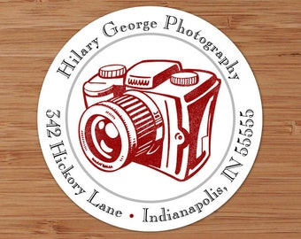 Classic Camera - Custom Address Labels or Stickers