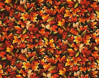 Gorgeous Fall Leaves Fabric--Great for Fall Decor-- 40-70% off Patterns n Books SALE