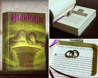 "Hollow Book Safe Ring Bearer (Harry Potter and the Half-Blood Prince ""Unbreakable Vow"")"