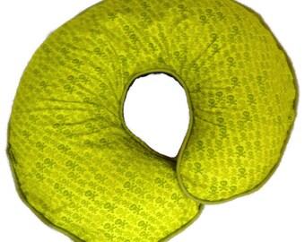 Boy or GIrl Boppy Pillow Cover Nursing Pillow Cover Green Skull and Crossbones Breastfeeding Pillow