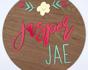 Custom Wooden Name Sign - Nursery Decor- Personalized Name Sign - Personalized Sign - Home Decor - laser cut letters