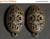 MOTHERS DAY SALE Set of Two Viking Brooches. Norse Turtle Brooches. Bronze Fretwork Apron Pins with Bails. Viking Brooch Set. Historical Ree