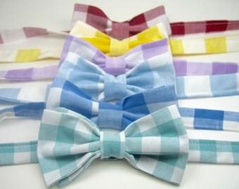 Gingham Bow Ties Boys Gingham Bow Ties Mens Bow Ties Boys Bow Ties Freestyle Bow Ties Wedding Bow Ties Custom Bow Ties