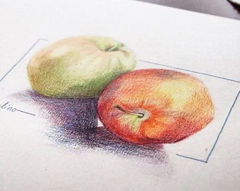 Original Drawing Colored Pencils on Paper