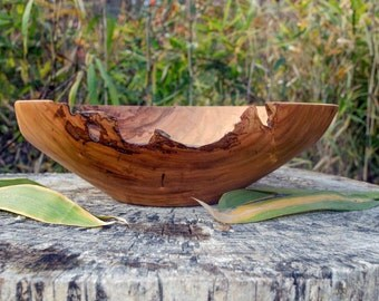 "Large Wood Fruit Bowl, 14"" Cherry Bowl, X-Large Cherry Fruit  Bowl, Wood Bowl, Centerpiece, hand turned, red, Kitchen ware"