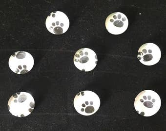 Dog Paw Push pins, Pushpins, Fancy Pins, Bulletin Board Pins, Office Pins, Office Decor, Dog Decor