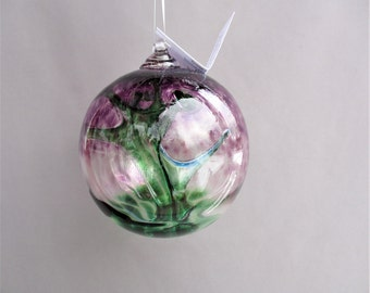 Hand Blown Glass Witch Ball/Ornament/Suncatcher,Art Glass