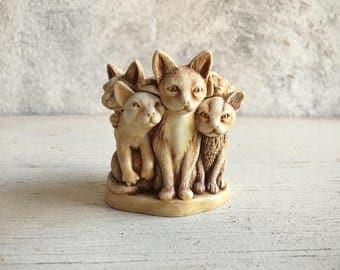 1995 cat trinket box Harmony Kingdom Jest Fur Ball Peter Calvesbert, feline collectible, cat lover gift, vintage ring box cat collectible